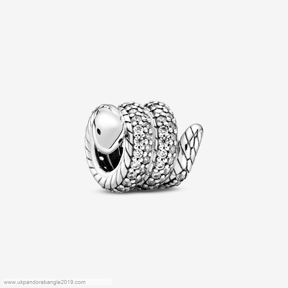 Authentic Pandora Sparkling Wrapped Snake Charm