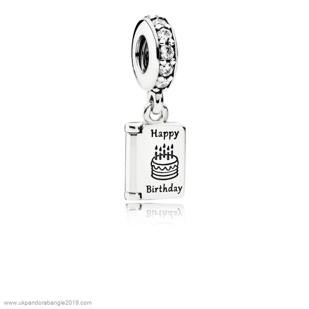 Authentic Pandora Pandora Birthday Charms Birthday Wishes Pendant Charm Clear Cz