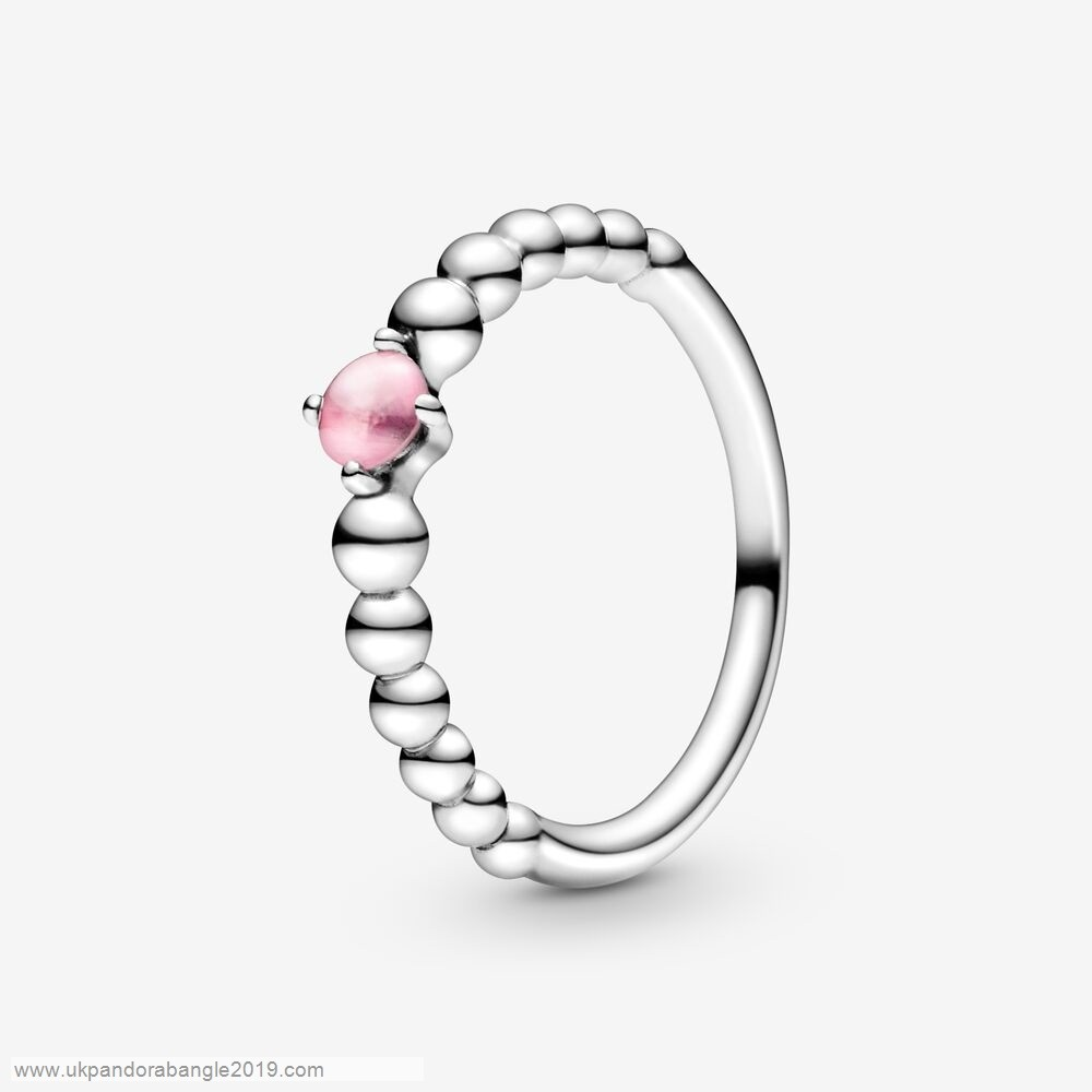 Authentic Pandora Petal Pink Beaded Ring