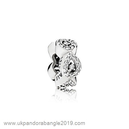 Authentic Pandora Pandora Passions Charms Chic Glamour Cascading Glamour Spacer Clear Cz