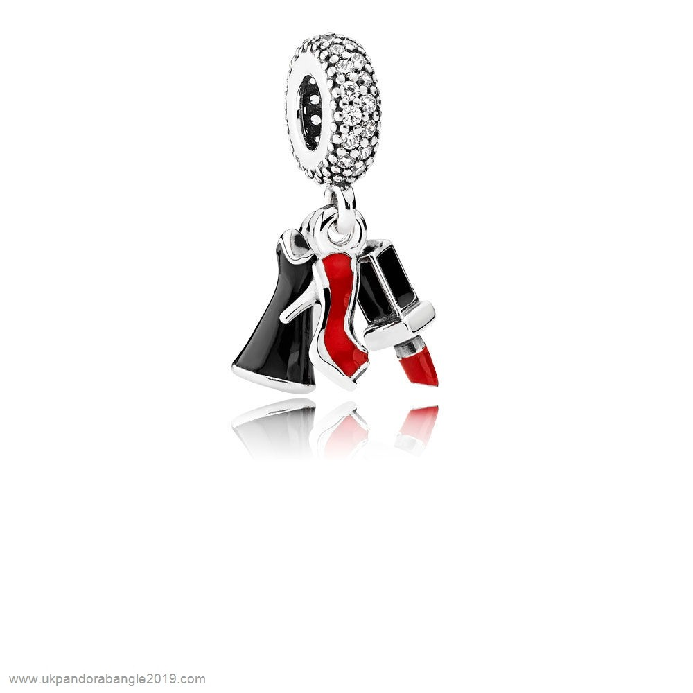 Authentic Pandora Pandora Passions Charms Chic Glamour Glamour Trio Pendant Charm Mixed Enamel Clear Cz