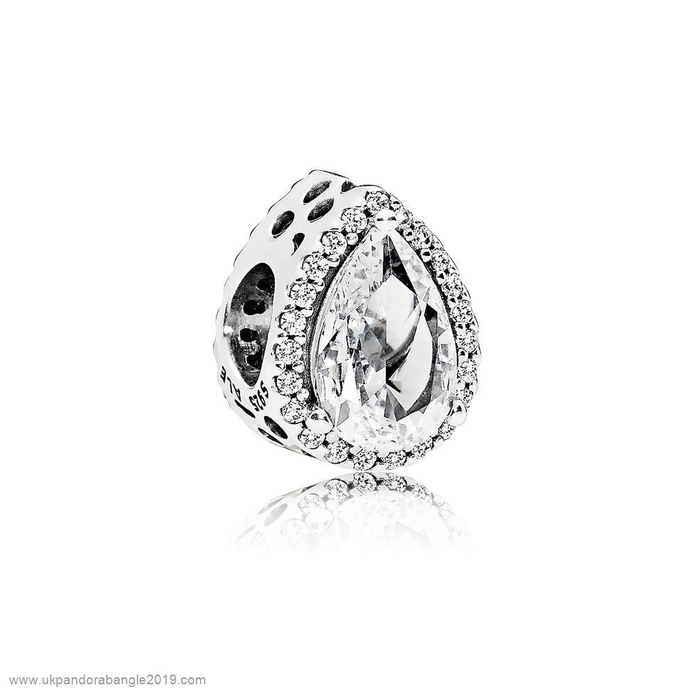 Authentic Pandora Pandora Passions Charms Chic Glamour Radiant Teardrop Charm Clear Cz
