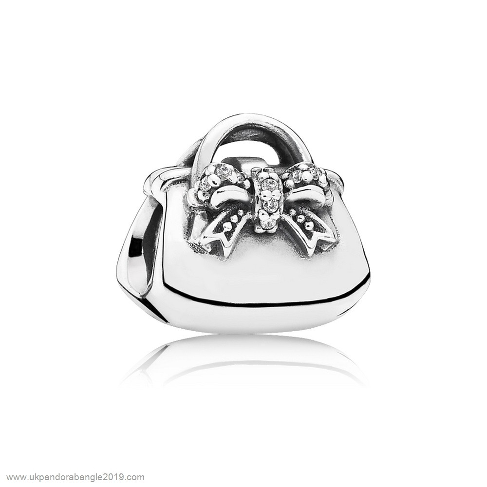 Authentic Pandora Pandora Passions Charms Chic Glamour Sparkling Handbag Charm Clear Cz