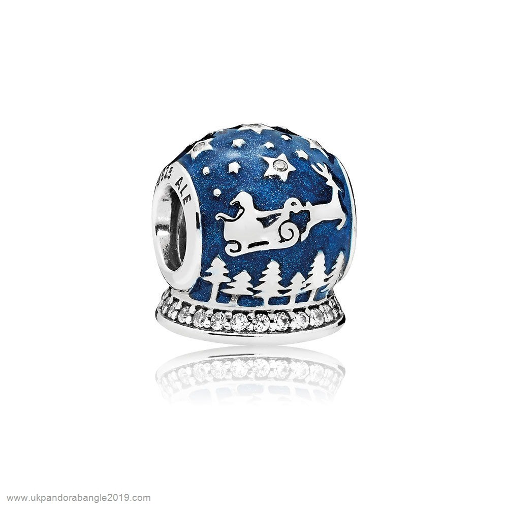 Authentic Pandora Pandora Holidays Charms Christmas Christmas Night Charm Midnight Blue Enamel Clear Cz