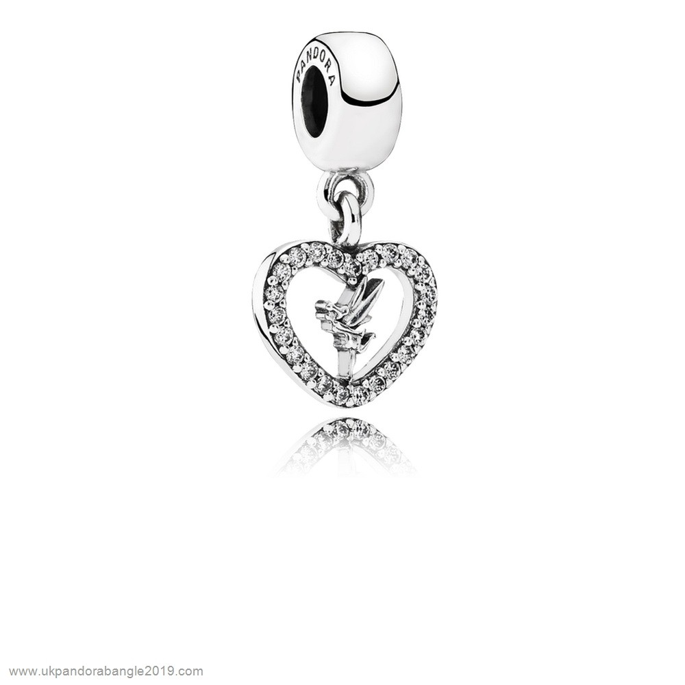 Authentic Pandora Pandora Disney Charms Love Tinker Bell Pendant Charm Clear Cz
