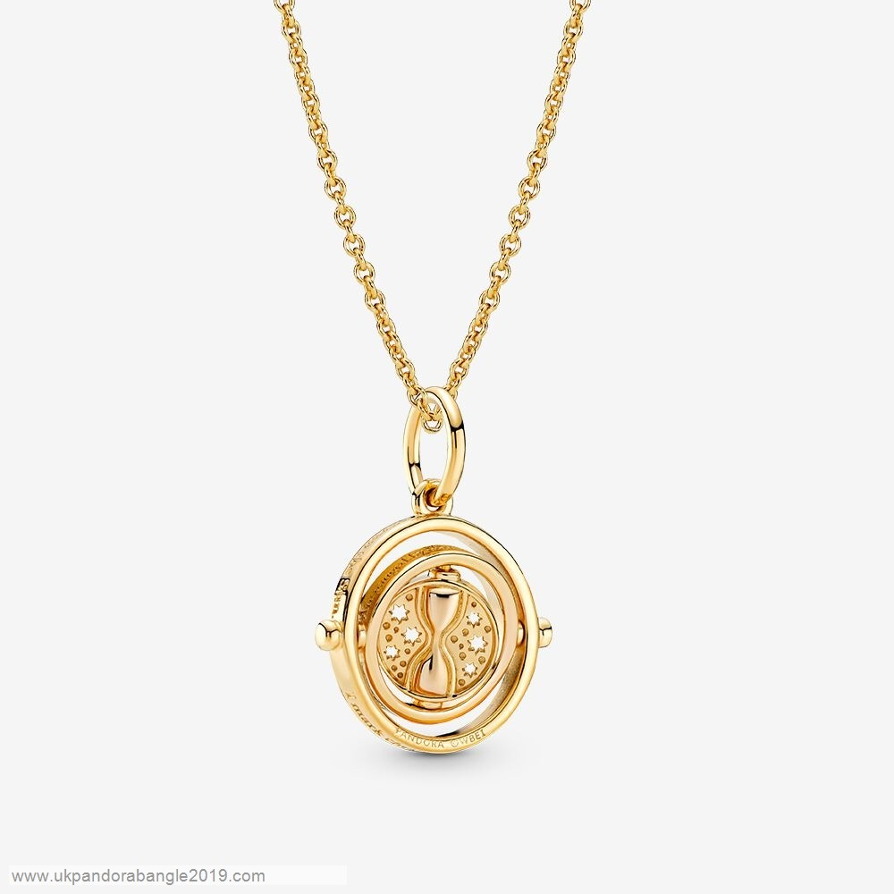 Authentic Pandora Harry Potter Time Turner Necklace Set