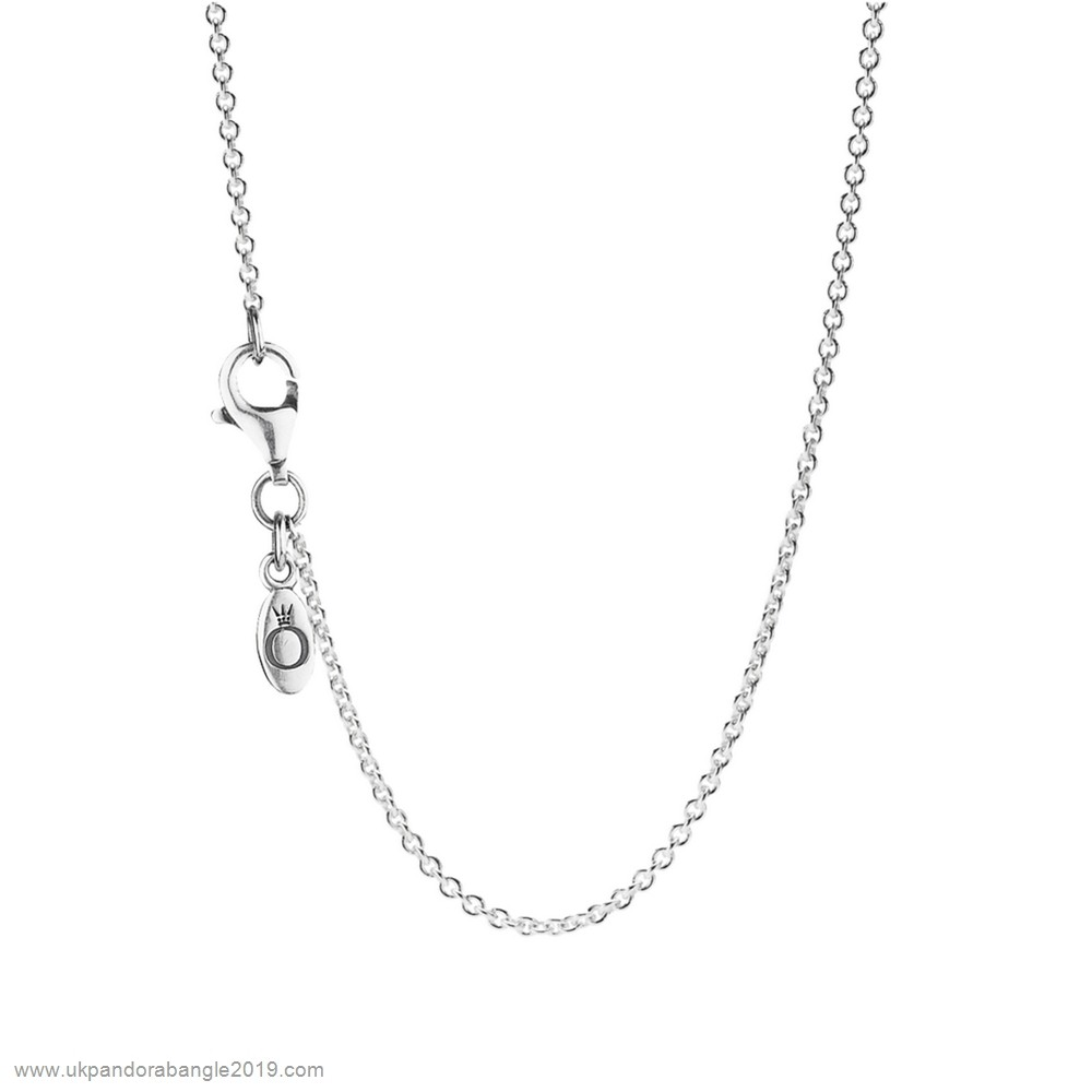 Authentic Pandora Pandora Chains Sterling Silver Chain Necklace Adjustable
