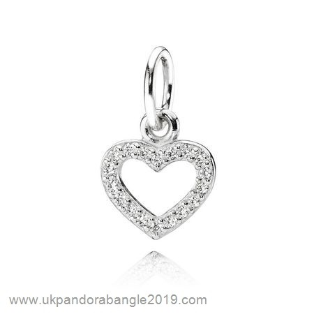 Authentic Pandora Pandora Pendants Be My Valentine Pendant Clear Cz