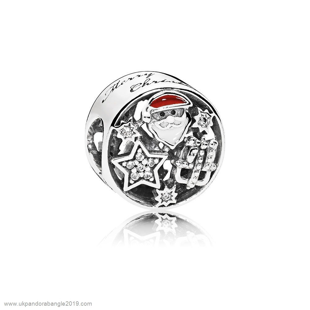 Authentic Pandora Pandora Winter Collection Christmas Joy Charm Mixed Enamel Clear Cz