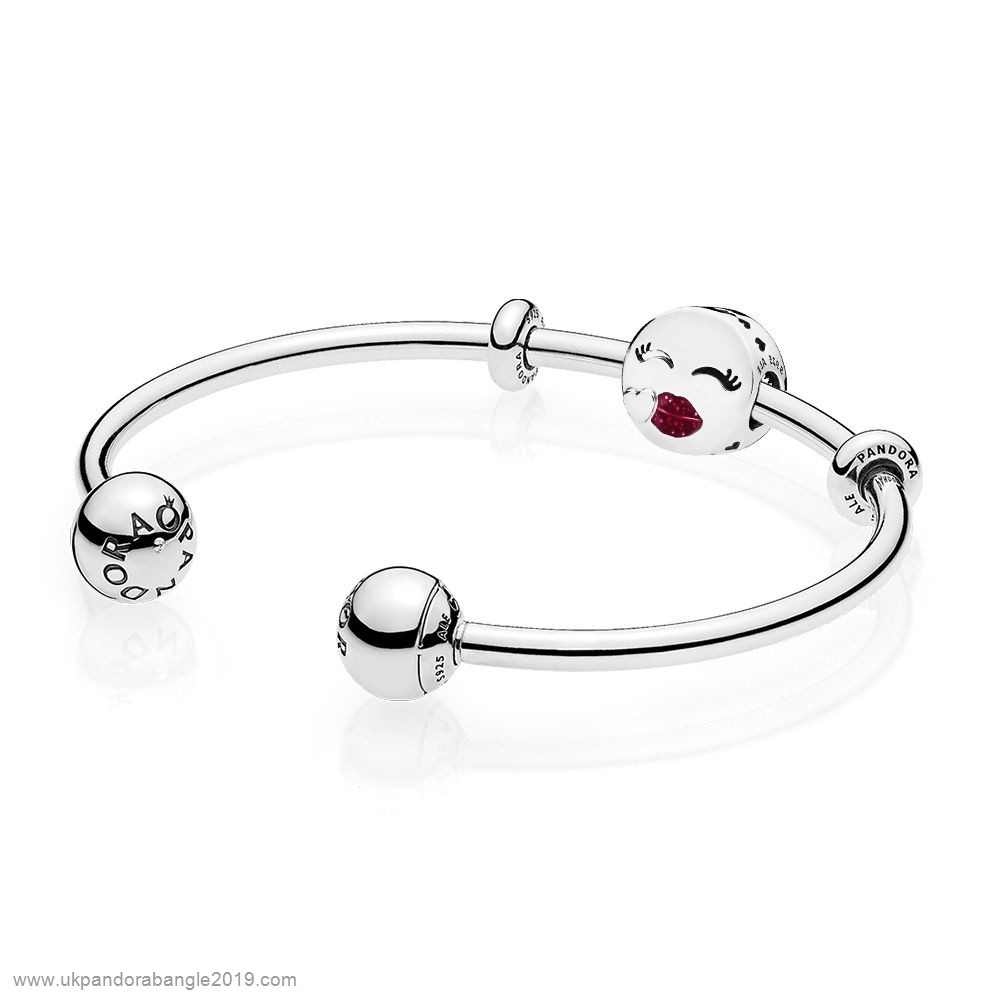 Authentic Pandora Cute Kiss Open Bangle Gift Set