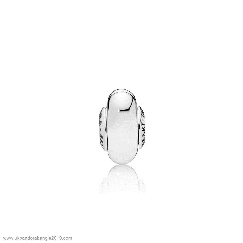 Authentic Pandora Follow Your Heart Essence Spacer Charm