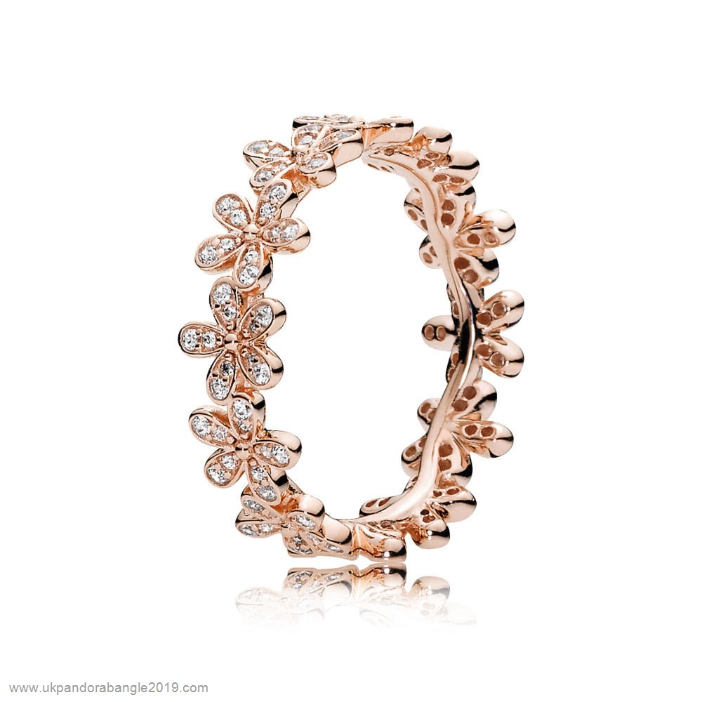 Authentic Pandora Pandora Rings Dazzling Daisy Ring Pandora Rose Clear Cz