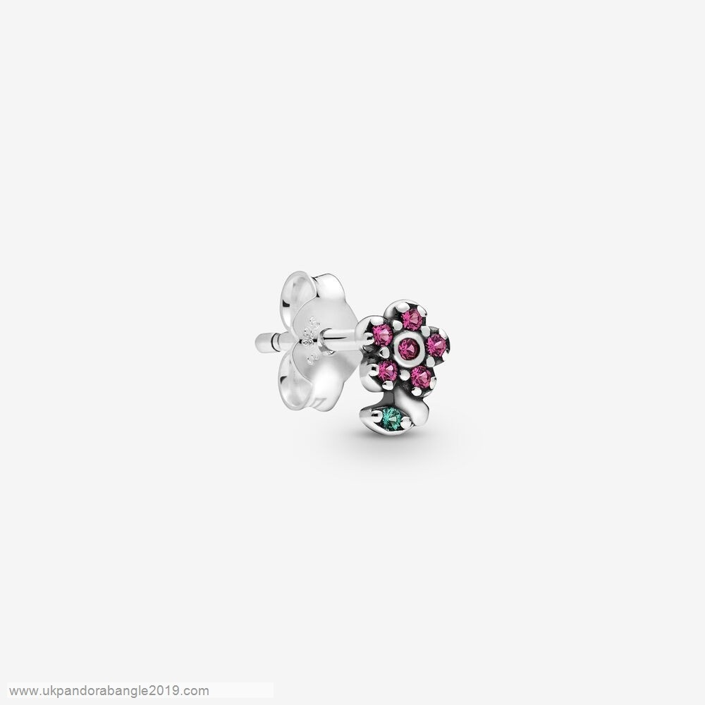 Authentic Pandora My Pretty Flower Single Stud Earring
