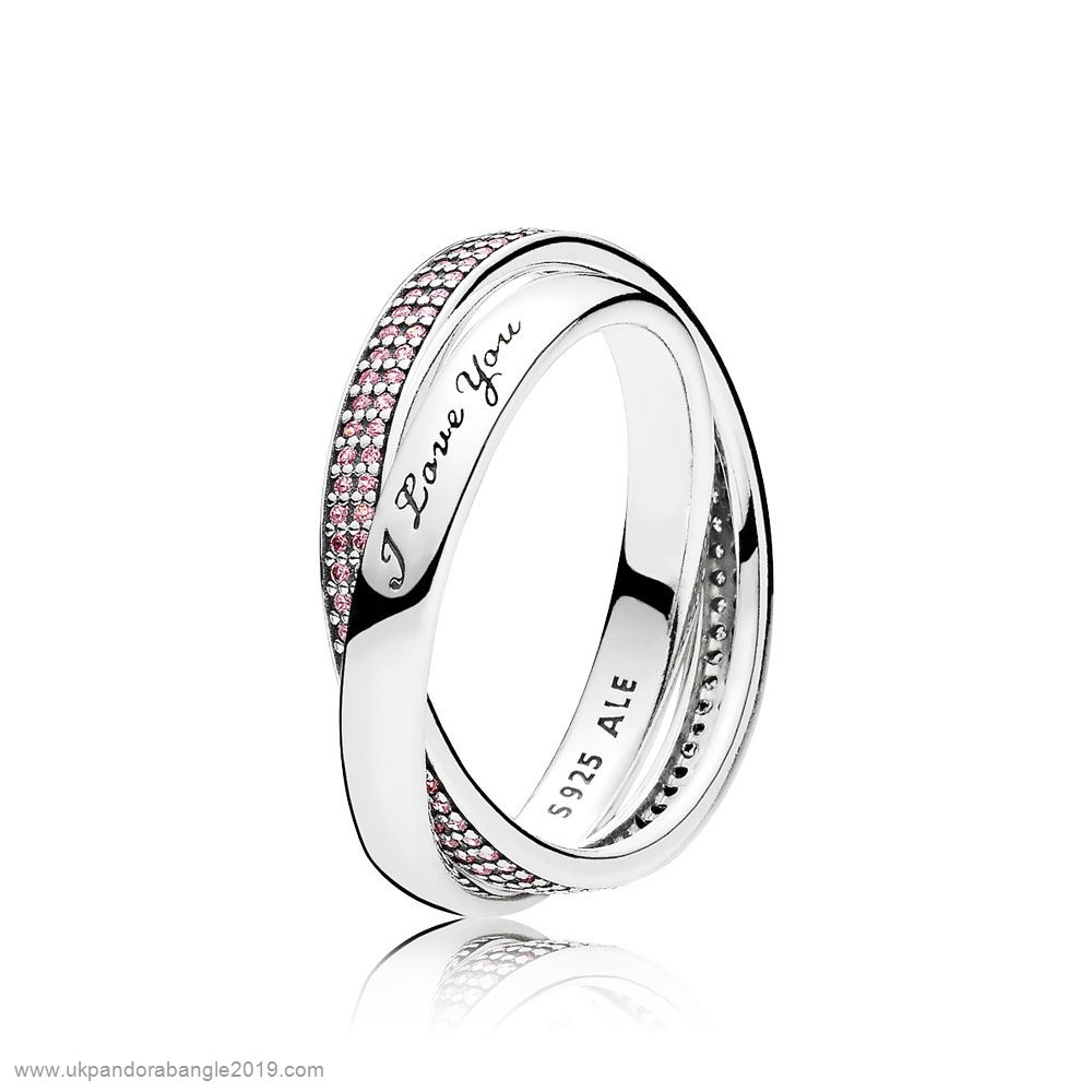 Authentic Pandora Pandora Rings Sweet Promise Ring Pink Cz