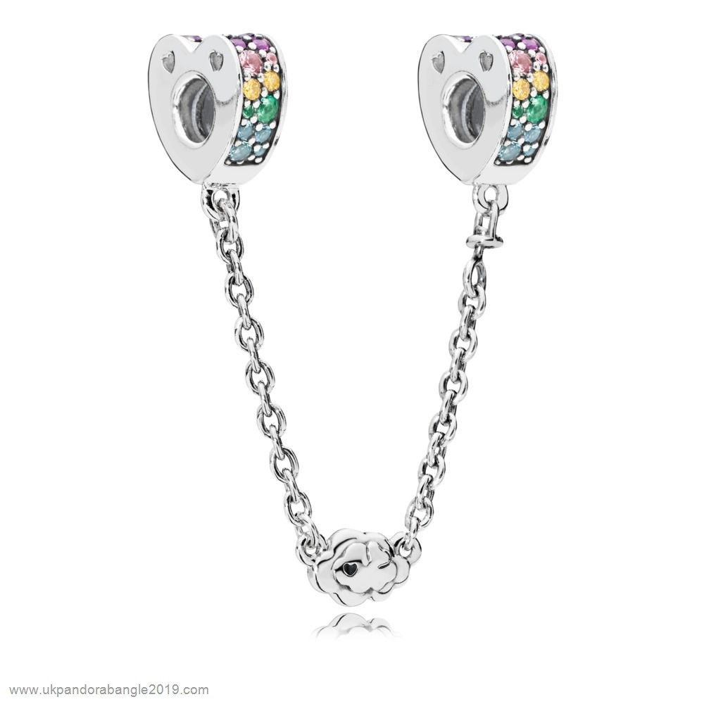 Authentic Pandora Multi Colour Arcs Of Love Safety Chain
