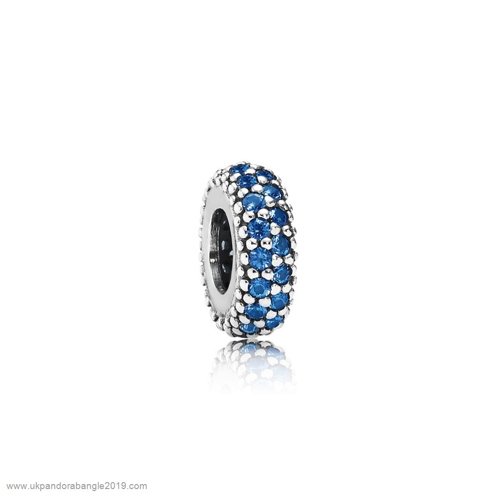 Authentic Pandora Pandora Spacers Charms Inspiration Within Spacer Blue Crystal