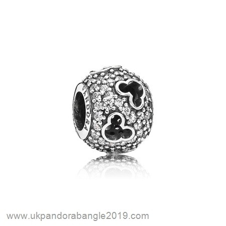 Authentic Pandora Pandora Sparkling Paves Charms Disney Mickey Silhouettes Charm Clear Cz